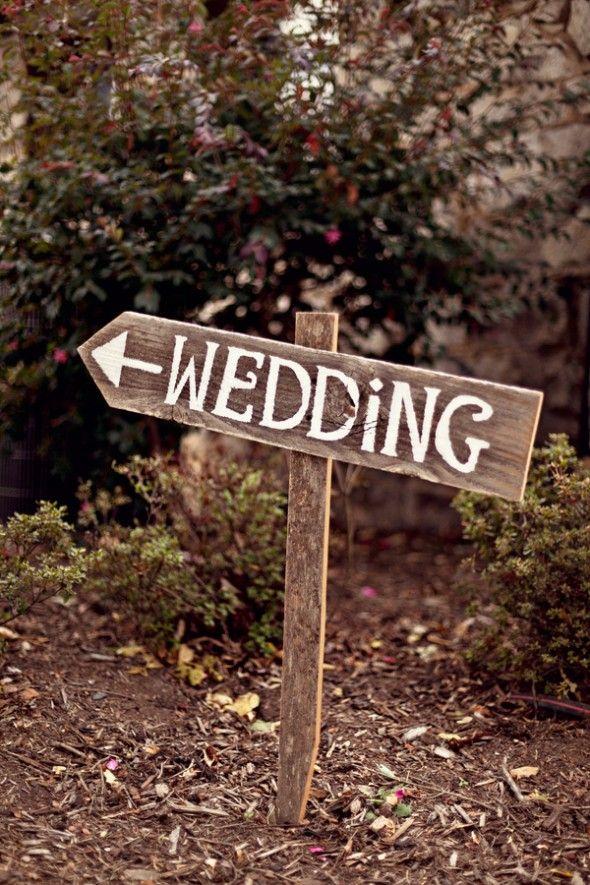 Rustic Wood Wedding Sign