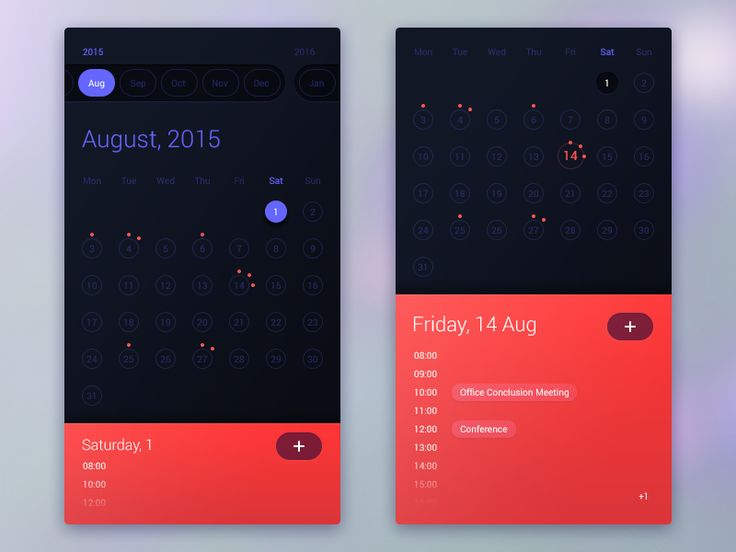 Calendar Design For App : Best images about mobile ui calendar on pinterest