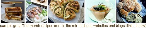 free recipes from 'in the mix' Thermomix cookbook