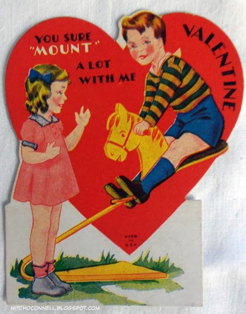 21 best images about Oddly suggestive vintage Valentines Day – Huge Valentine Cards