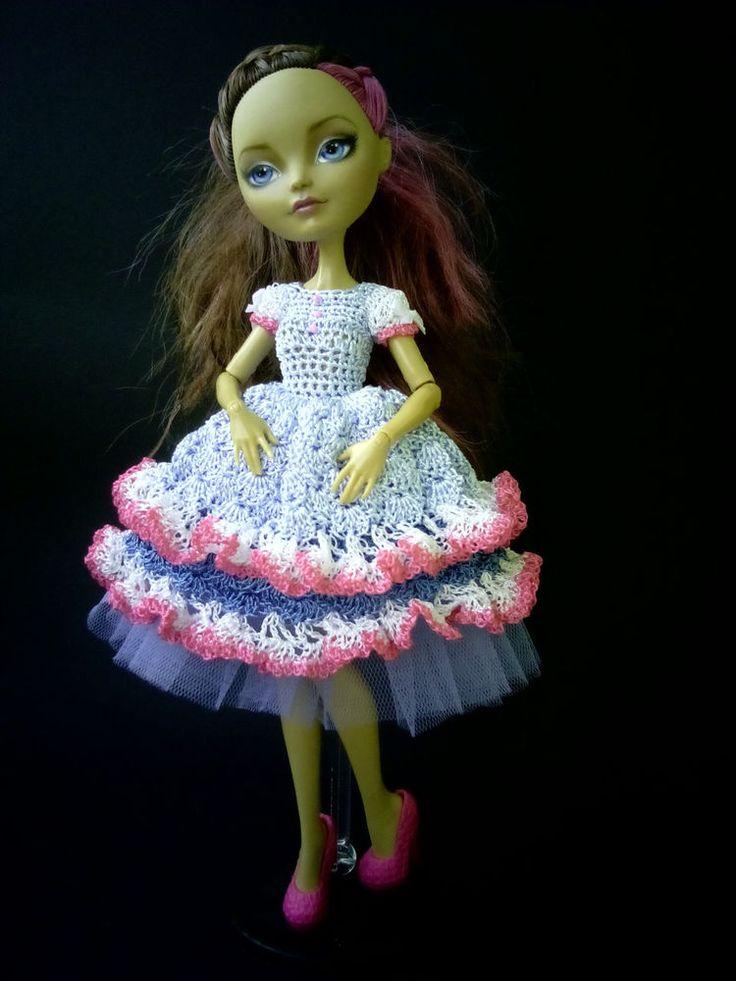 Handmade crochet clothes /outfit/ for Mattel Ever After High dolls #Mattel