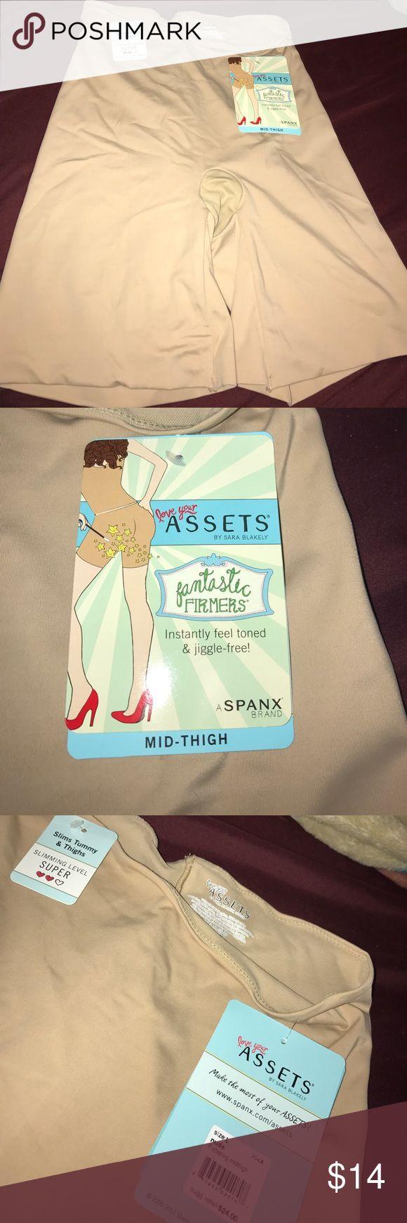 Assets Midthigh Shaper Shaping Spanx shorts. Size Large Assets By Spanx Intimates & Sleepwear Shapewear