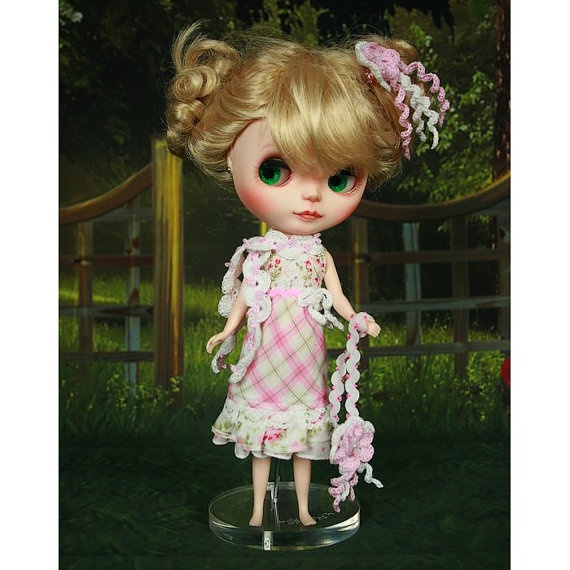 style4doll  Dress scarf hairpin handbag  for Blythe by style4doll, $24.99
