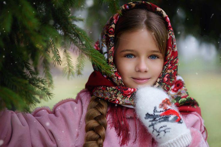 Русская красавица. Зима.  Фотограф Lena Dorry