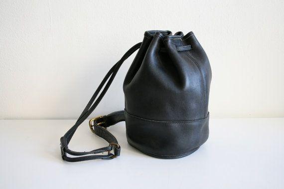 Noir entraîneur seau sac Sling Bag