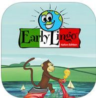 Early Lingo Italian - Total Immersion foreign language learning for children  iPad ONLY - $2.99 to FREE  Early Lingo's Italian App is a fun and exciting way for children to learn Italian vocabulary and simple phrases. Characters Jojo and Lulu bring Italian lessons to life in their adventures in the Park and on the Farm, as children learn through play.