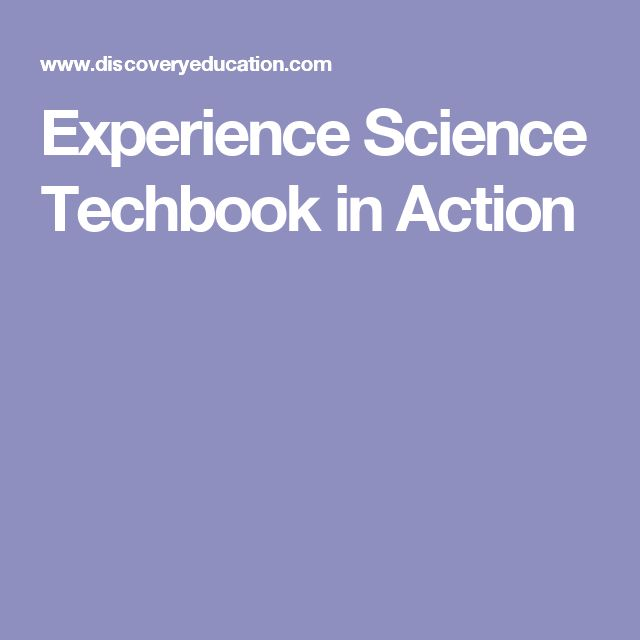 Experience Science Techbook in Action