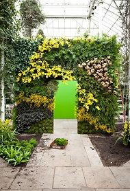 Beautiful vertical garden at New York Botanical Garden.: Bronx Style, Style Ny