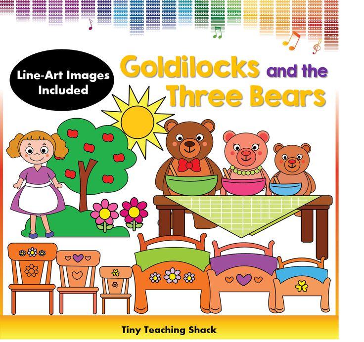 Goldilocks and the Three Bears fairytale clipart