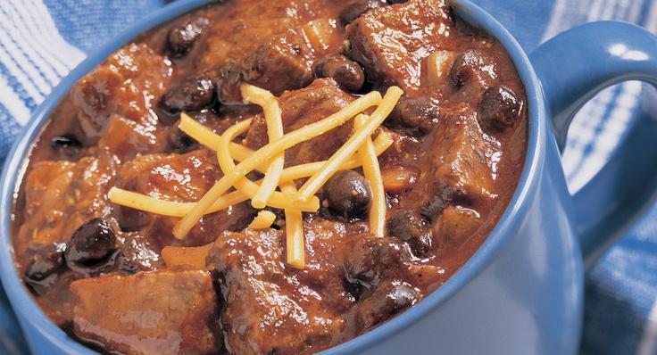 Black Bean and Beef Chili | Recipe