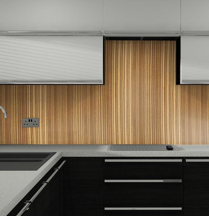 Image result for wood VENEER SPLASHBACK