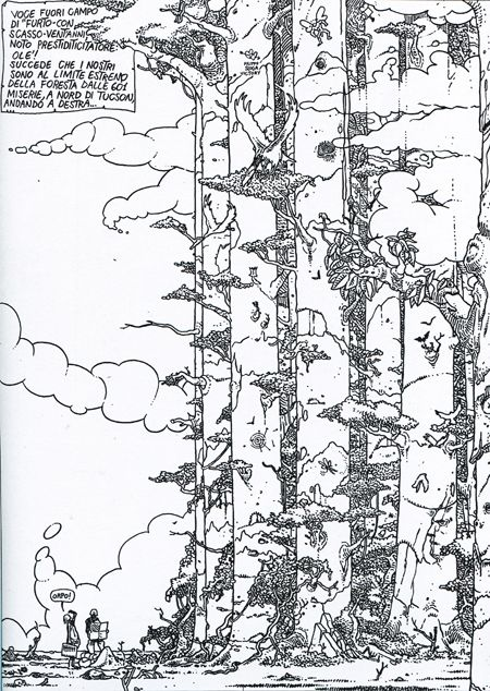 "Andrea Pazienza, from ""Penthothal"", #art #illustration #comics"