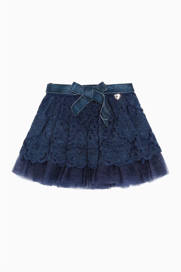 схема вязания детской юбки с рюшами