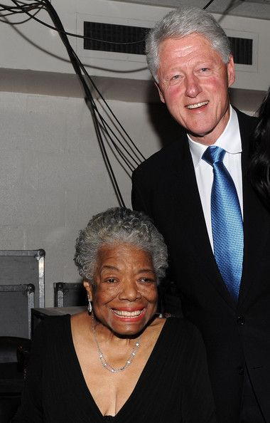 Maya Angelou - with President Bill Clinton. She was the second American poet asked to write and read a poem for the president.