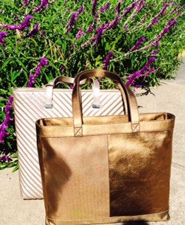 Jill Milan's Tiburon Tote in the front.  In the back, our Newport Tote.
