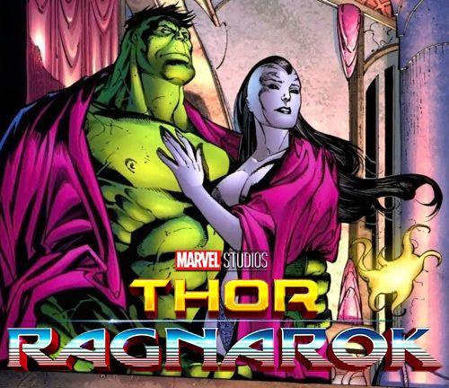 thor ragnarok hulk and caiera