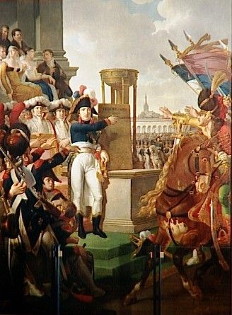 Bonaparte proclaims the Cisalpine Republic in Milan, July 9, 1797.