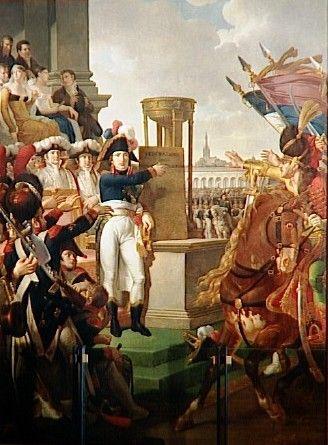 Bonaparte proclaims the Cisalpine Republic in Milan, July 9, 1797.
