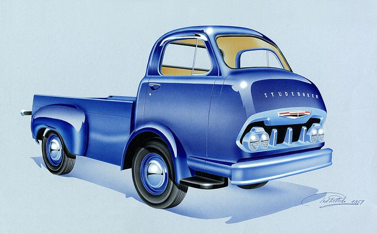 Design for a Studebaker, cab-forward, pick-up truck, by T ... Theodore Pietsch
