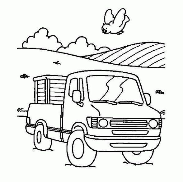 Dibujo de Camioneta. Dibujo infantil para colorear de Camioneta.