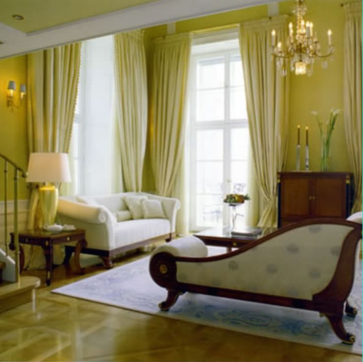 Regency style reception room in Worcestershire home