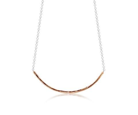 Elegant Rose Gold Faceted Necklace from Maya Magal London