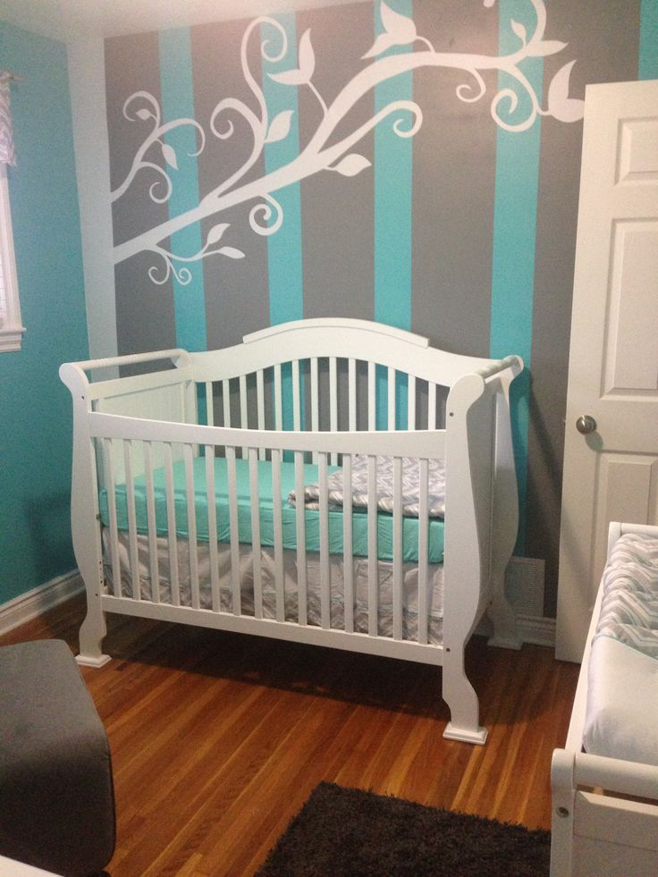 Baby V S Nursery Turquoise And Grey Nursery Ideas