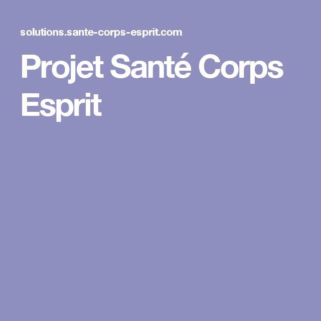 Projet Santé Corps Esprit