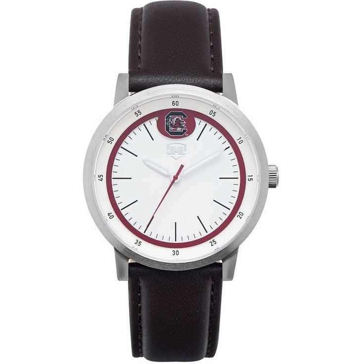 South Carolina Gamecocks Jack Mason Brand Leather Strap Watch