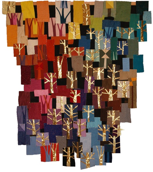 "Helen Howes - My Oakshott Bonus Colourbox One  ""100 colours of cotton fabrics plus gold, 100 tiny quilts make one big forest"""