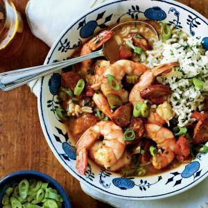 Shrimp-and-Sausage Gumbo - Serve this slow-cooker version of a Louisiana classic for dinner. Just don't be surprised if your family comes back for seconds.