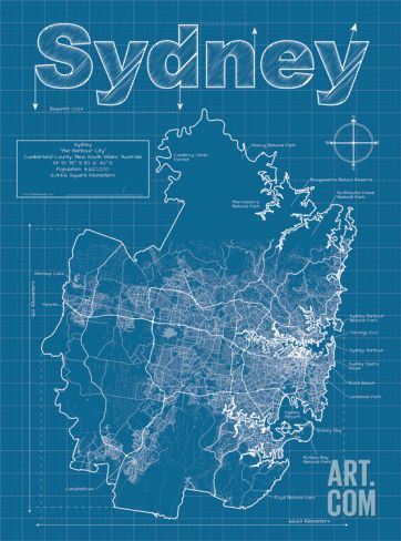 96 best graphic city maps images on pinterest city maps art sydney artistic blueprint map art print by christopher estes save up to 40 for malvernweather Image collections