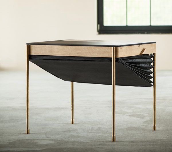"""This Art Deco Inspired Secret Desk is meant for office spaces and features a clever """"mechanism"""" of hiding objects inside.. we love it!"""