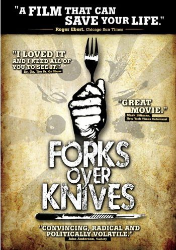 Forks Over Knives DVD-a compelling documentary on why society is struggling with massive cases of cancers, diabetes, obesity, multiple sclerosis, and other deadly diseases. And the cure ... food.