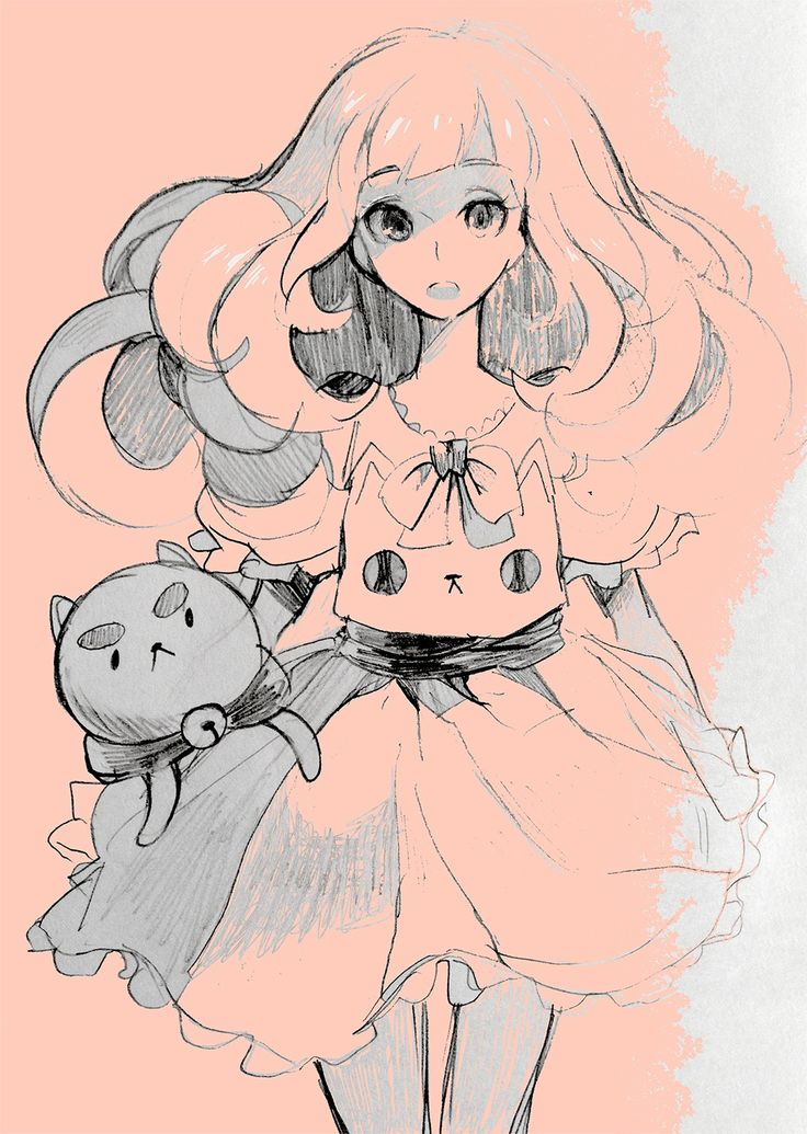 Bee and Puppycat sketch ... OMgoodness gracious! THIS IS BEAUTIFUL!!! AHHHHHH! If only bee and puppycat actually looked like this! This is probably what they'll look like if they reboot the series like Sailor Moon-to-Sailor Moon Crystal