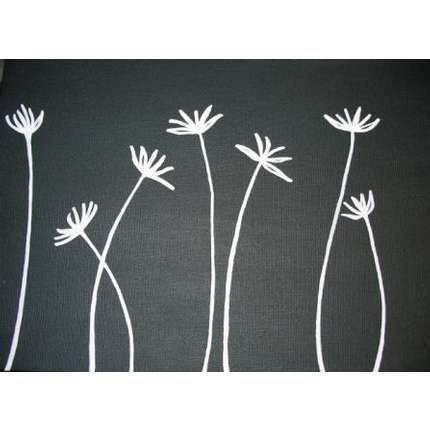 Simple Canvas Painting Ideas | easy flower paintings on canvas Easy Flower Paintings On Canvas.     Powder room