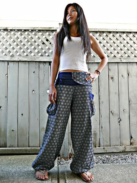 Traditional Sashiko (INDIGO) Comfy Pants