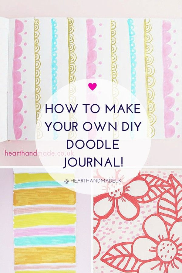 How To Make Your Own DIY Doodle Journal - http://www.decorationarch.net/creative-ideas/how-to-make-your-own-diy-doodle-journal.html -