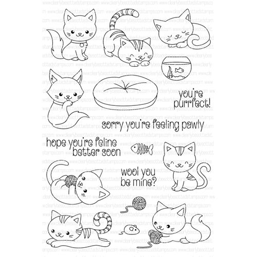 Clearly Besotted YOURE PERRFECT Clear Stamp Set at Simon Says STAMP!