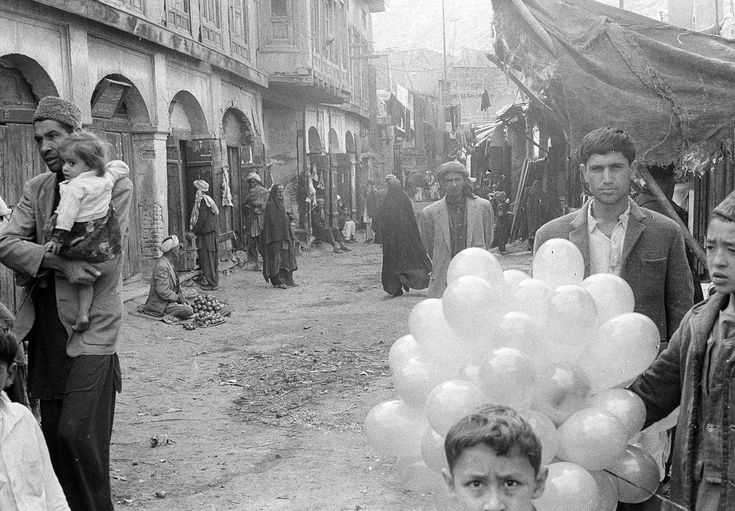 A quiet scene in a street through the bazaar of Kabul, on December 31, 1969 | The Atlantic