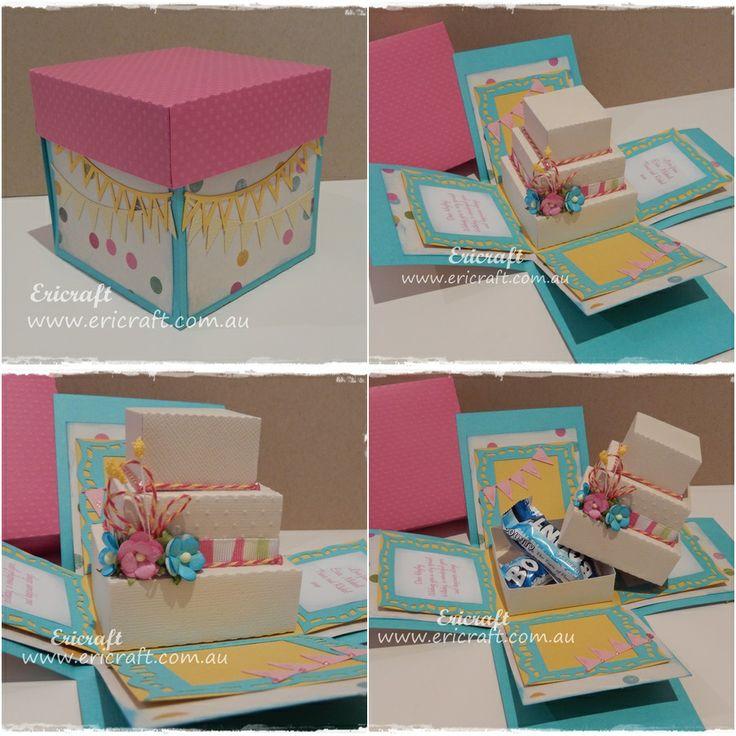 Cake box explosion card. Order your custom handmade card ...