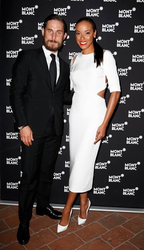 Selita Ebanks is slaying in all white, and that Clemens Schick ain't half bad.