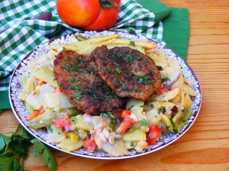 Makacska konyhája: Natúr sertésszelet zöldbab salátával
