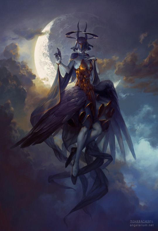 Behold, the goddes of night.   Fear her power, fear her might.  Although she shines as the Sun so bright. The darkness tries to own her, the darkness of night.  Every month she fights in full glory.   The goddes guides us till dawn, till the end of the story.   - Maudi van der Vliet