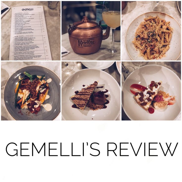 Gemelli's Review | Restaurant Review   Italian Food, Pasta, Chicken, Nutella Cheesecake, Almond and Nougat Cheesecake, Vodka and Ginger beer