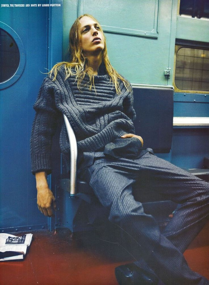 Erik Andersson Tackles the Subway in Louis Vuitton for 10 Men