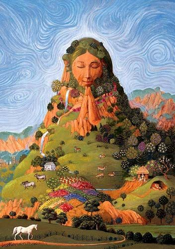 """Pachamama"" / Madre Tierra / Mother Earth - www.sandraburela.com"