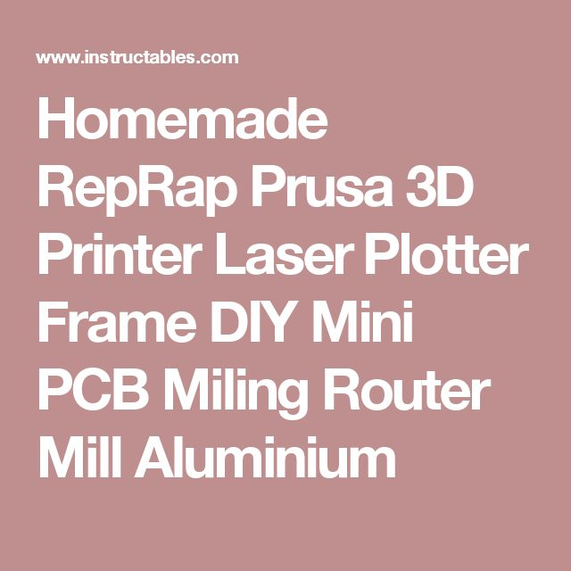 Homemade RepRap Prusa 3D Printer Laser Plotter Frame DIY Mini PCB Miling Router Mill Aluminium