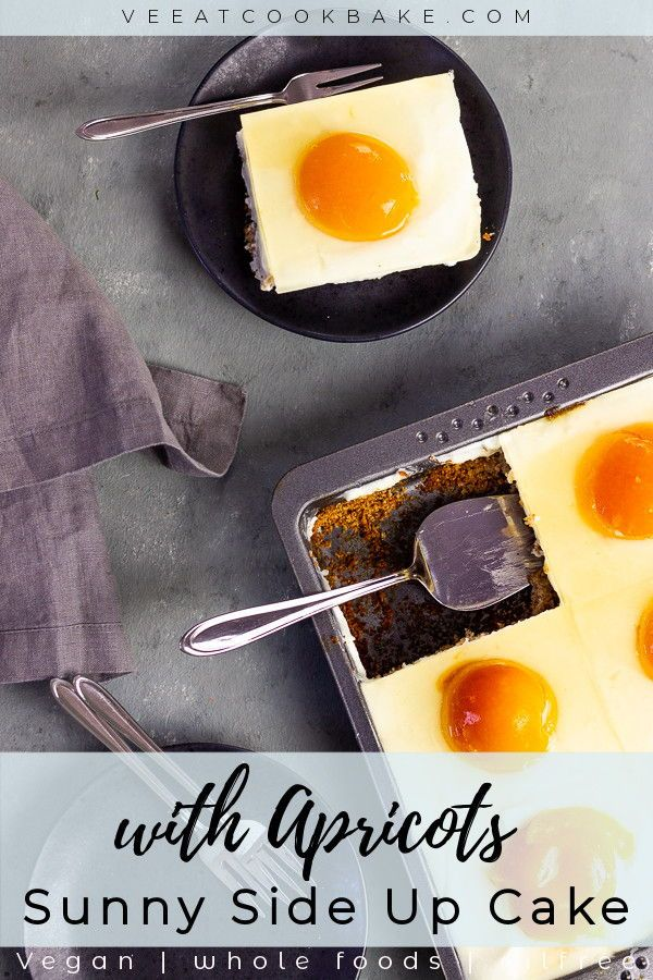 Vegan Sunny Side Up Cake With Apricots For Easter