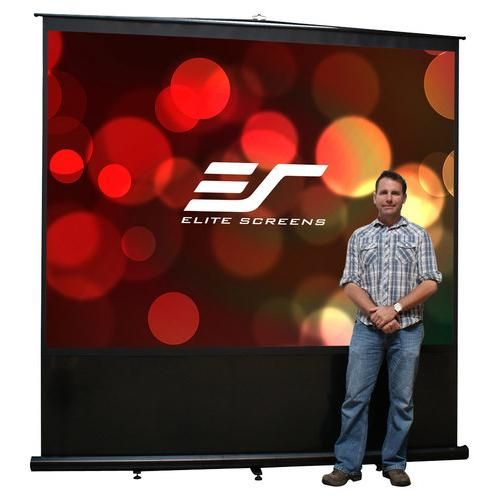 Elite Screens - Reflexion Series Portable Projector Screen - Black - Larger Front